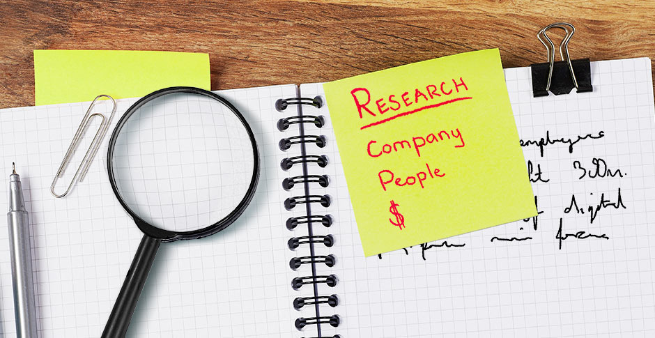 What to research before a job interview